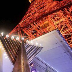 東京タワーでユダヤ教の光の祭典「ハヌカ」を祝う点灯式が開催