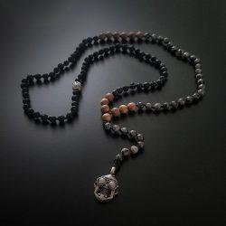 ハンドメイド 数珠ネックレス