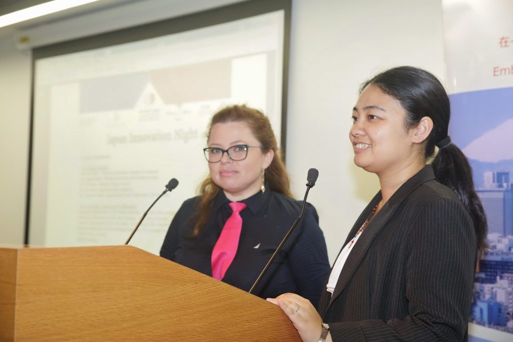 Sophiya Gugelev(left) and Rie Matsumoto(right)