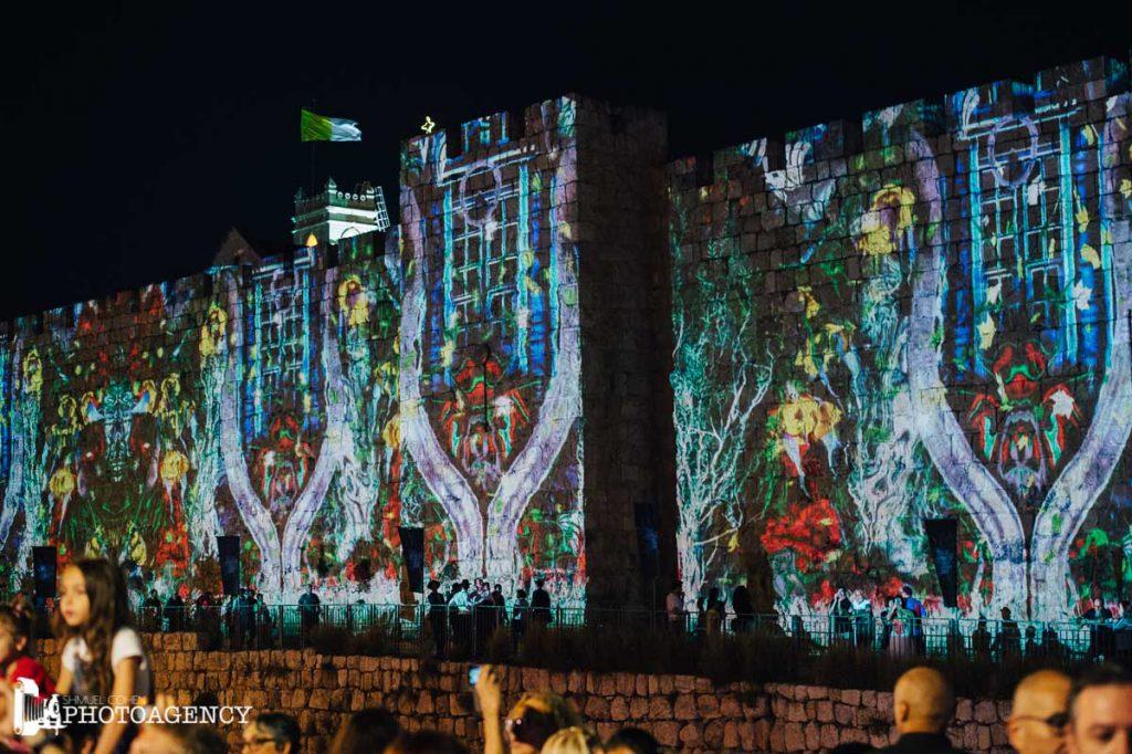 エルサレムで年に一度開催される「ライトフェスティバル」の様子