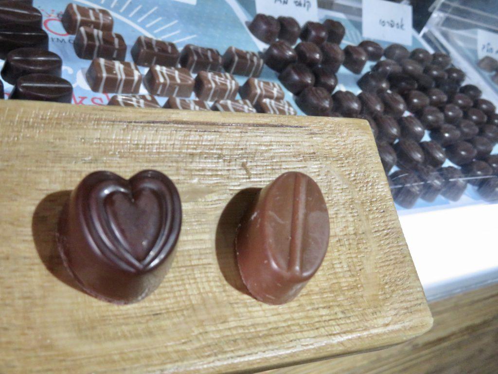 1番気に入ったのはプラリネクリームのチョコレートです。イスラエルでこれほどクオリティの高いチョコレートは珍しいです。