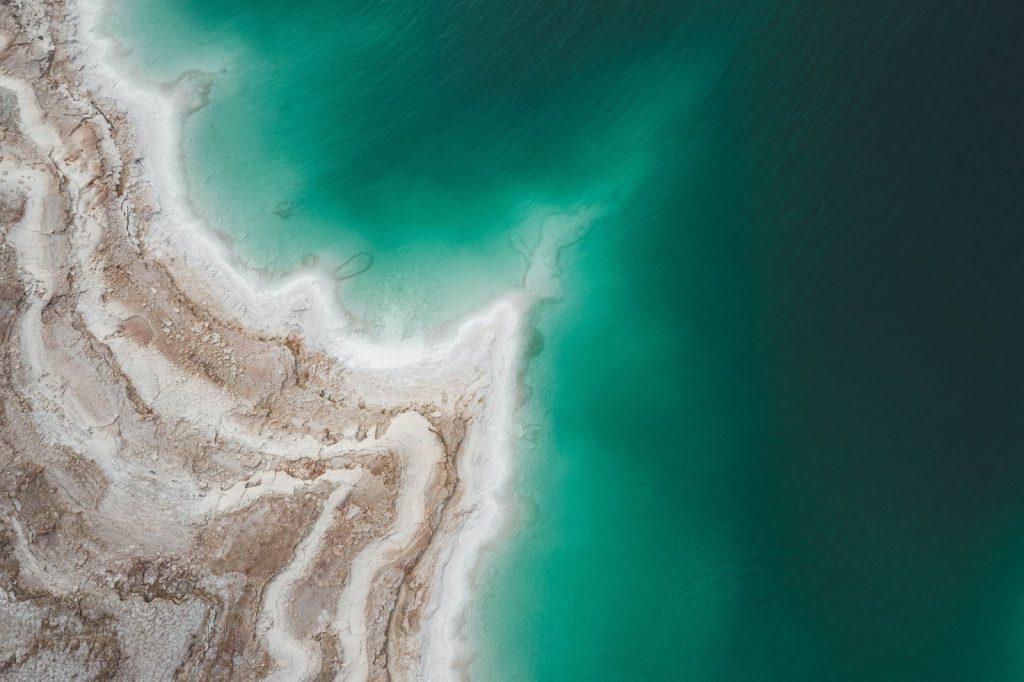 空中から見た死海