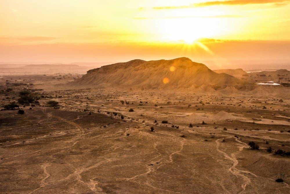 イスラエルエイラット北部にあるアラバ砂漠